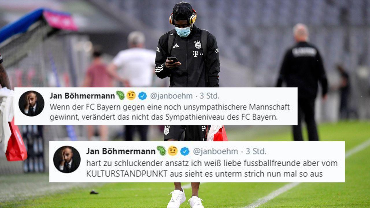 Bayern oder Paris? Für Böhmermann kaum ein Unterschied - Bildquelle: Imago/Twitter:Jan Böhmermann