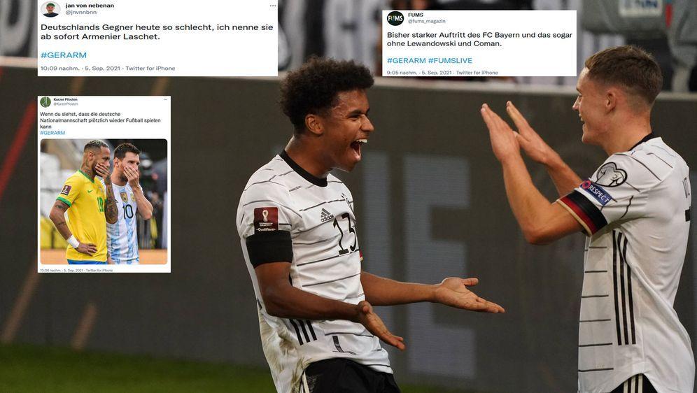Nicht nur die DFB-Kicker hatten Spaß: Das Internet war beim 6:0 über Armenie... - Bildquelle: imago
