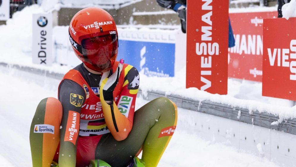 Julia Taubitz erleidet eine Rückschlag im Rodel-Weltcup - Bildquelle: PIXATHLONPIXATHLONSID