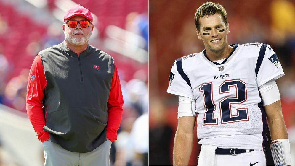 Das perfekte Ehepaar? Bruce Arians (l.) und Tom Brady (r.). - Bildquelle: imago