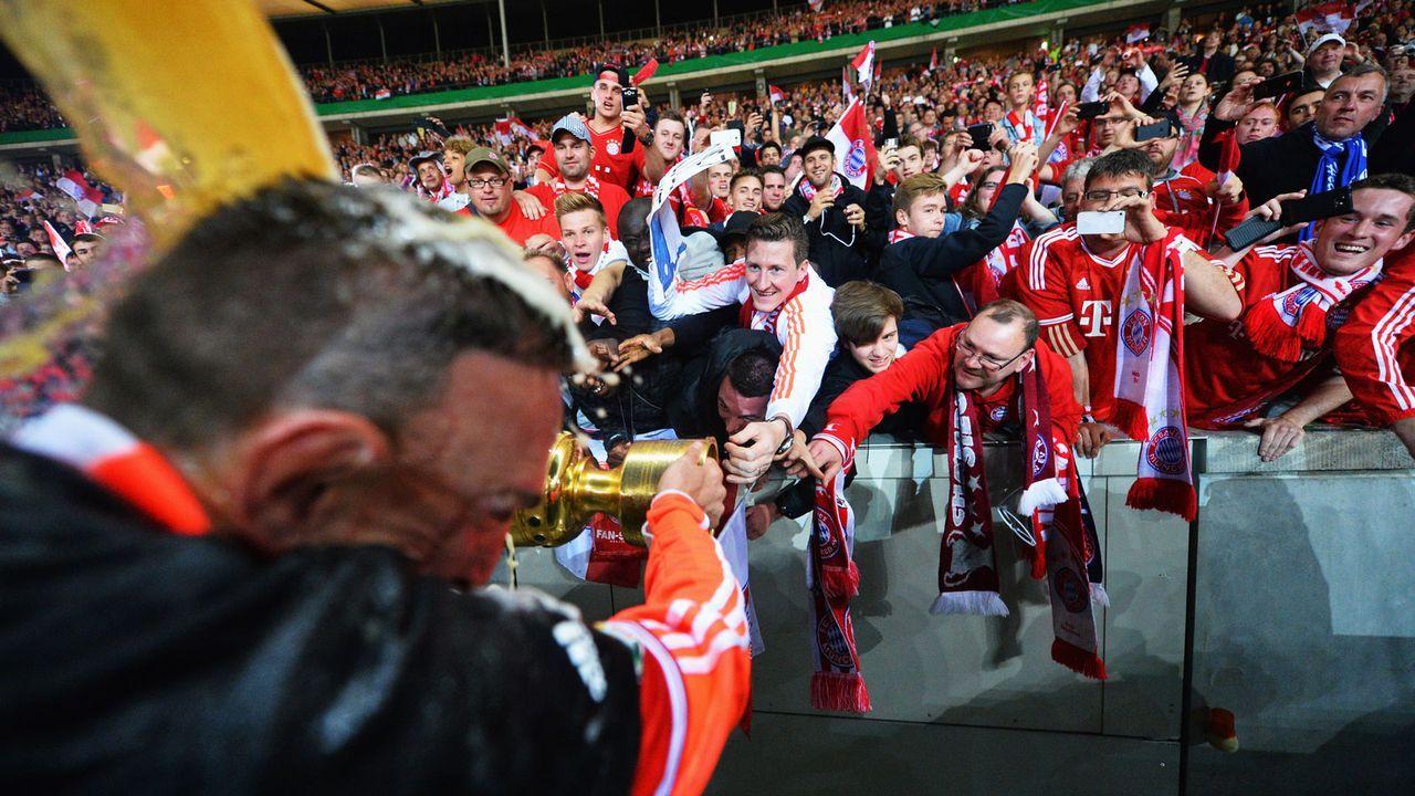 Bayern ist zwar Gastteam - aber die Fans sind in der Hertha-Kurve - Bildquelle: 2013 Getty Images