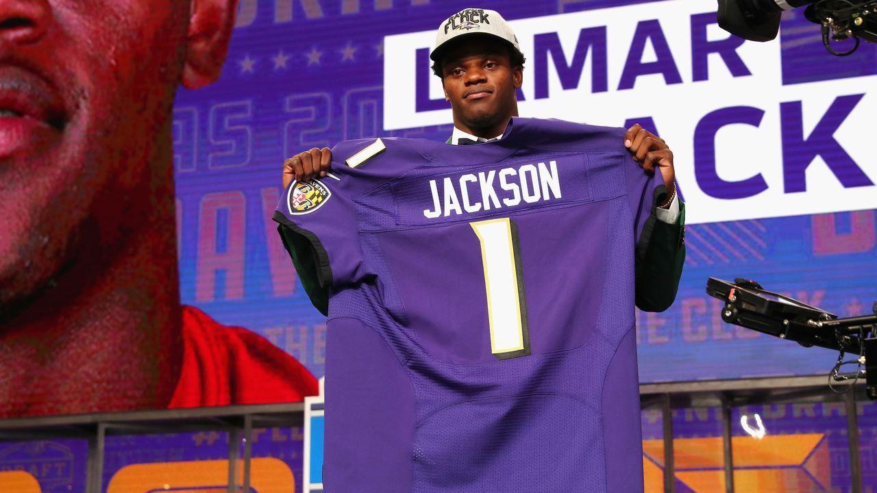 Lamar Jackson (32. Pick im Draft 2018, Baltimore Ravens) - Bildquelle: 2018 Getty Images