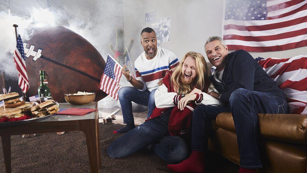 """Jan Stecker, Patrick Esume und """"Icke"""" Dommisch berichten aus Atlanta."""
