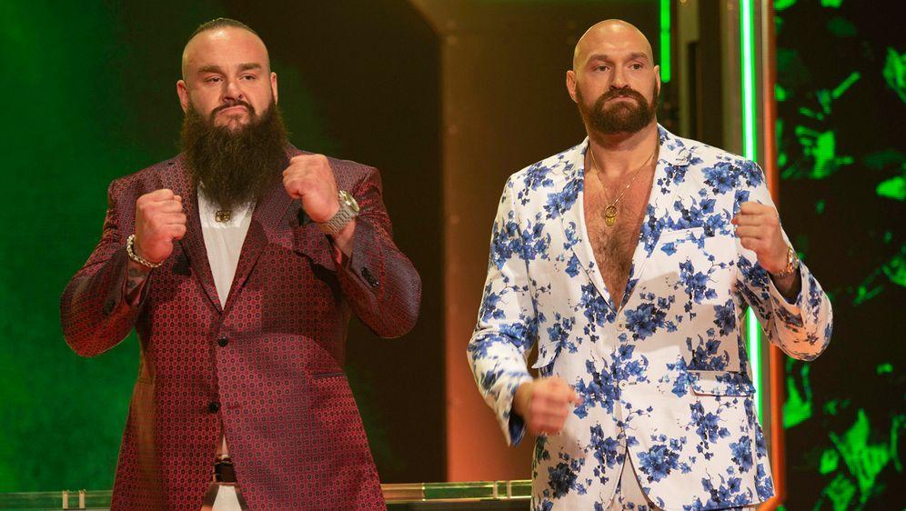 Tyson Fury und Braun Strowman. - Bildquelle: imago images/ZUMA Press