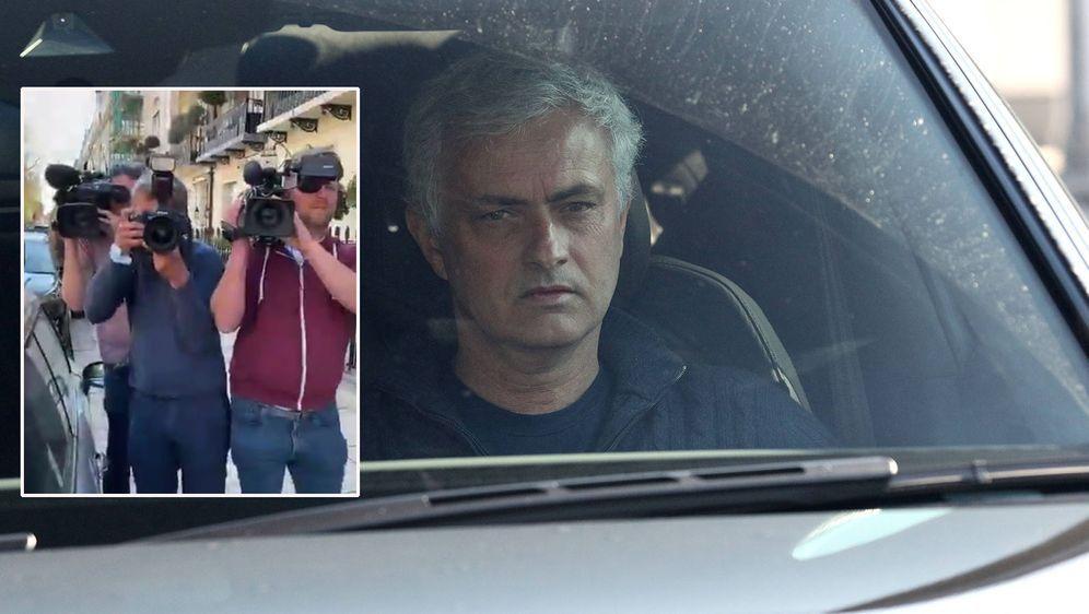 Jose Mourinho filmt wartende Reporter nach seinem Aus bei den Tottenham Hots... - Bildquelle: imago/instagram.com