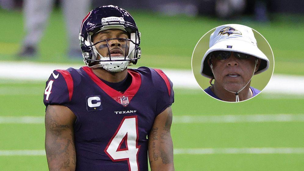 Deshaun Watson (l.) und neuer Head Coach der Houston Texans, David Culley (r... - Bildquelle: getty/imago