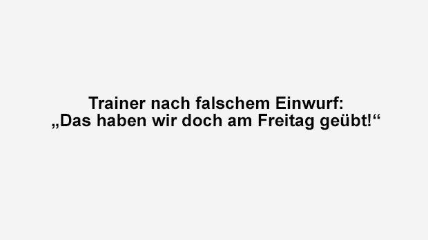 Falscher Einwurf - Bildquelle: ran.de