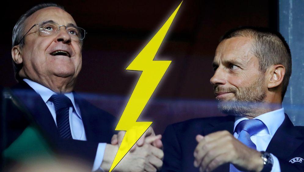 Real-Boss Perez und Uefa-Präsident Ceferin gehen auf Konfrontation - Bildquelle: 2018 Getty Images
