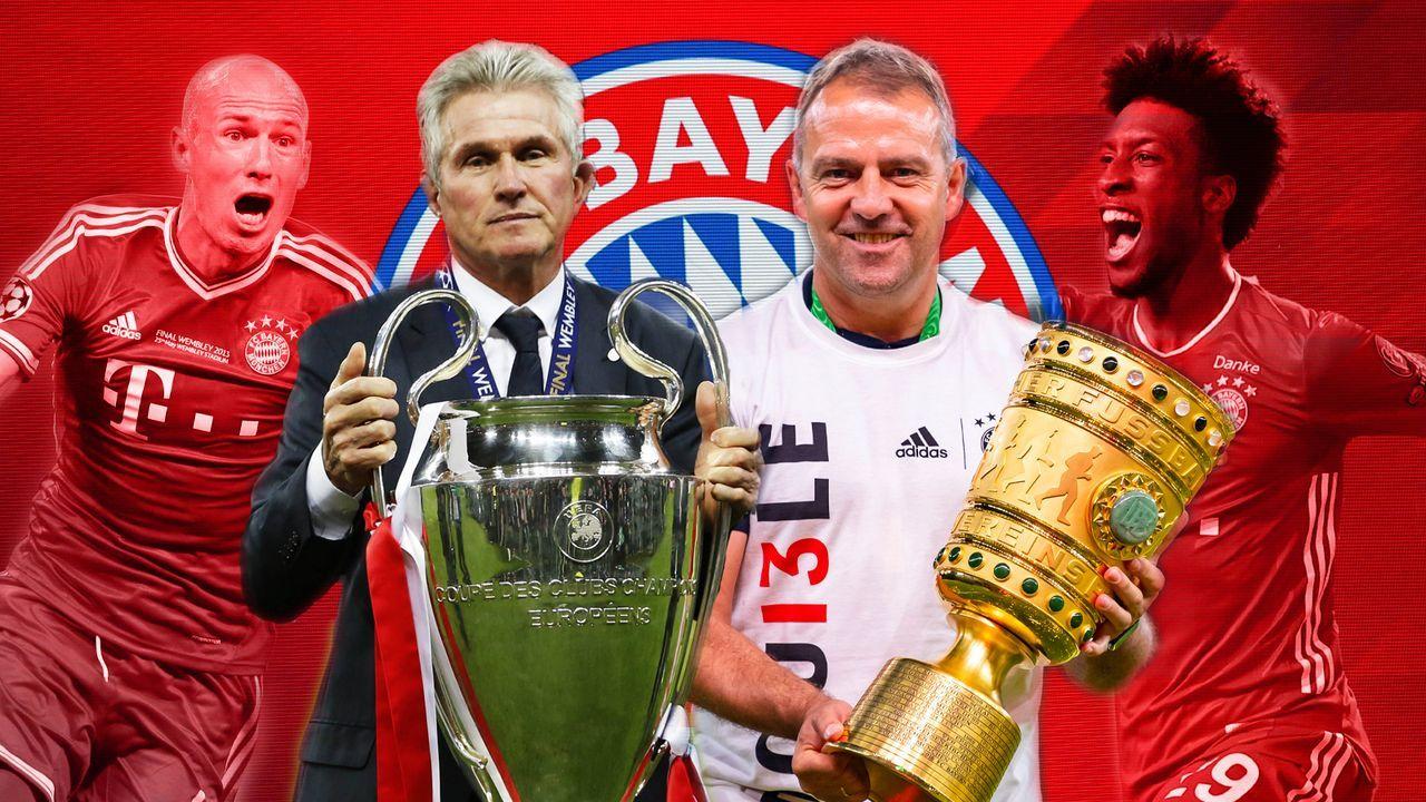 Wembley und Estadio da Luz: Die Triple-Bayern von 2013 und 2020 im direkten Vergleich - Bildquelle: Imago