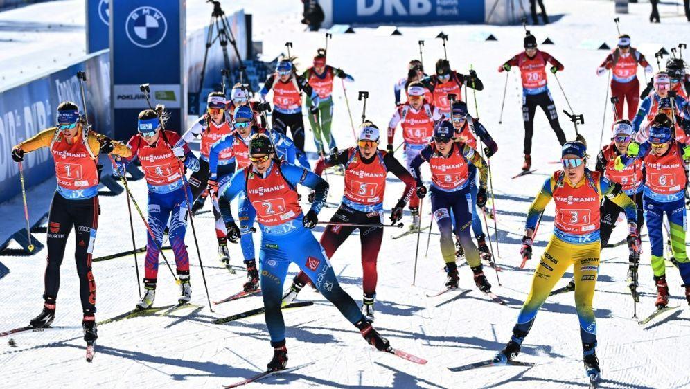 Hohe Einschaltquoten bei Biathlon-WM - Bildquelle: AFPSIDJOE KLAMAR