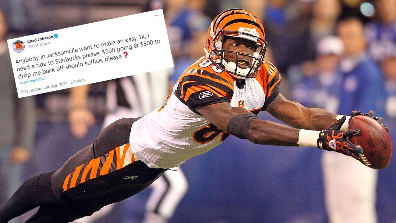 Ex-NFL-Star verspricht 1.000 Dollar für Fahrt zu Starbucks - Bildquelle: Getty/twitter.com/ochocinco