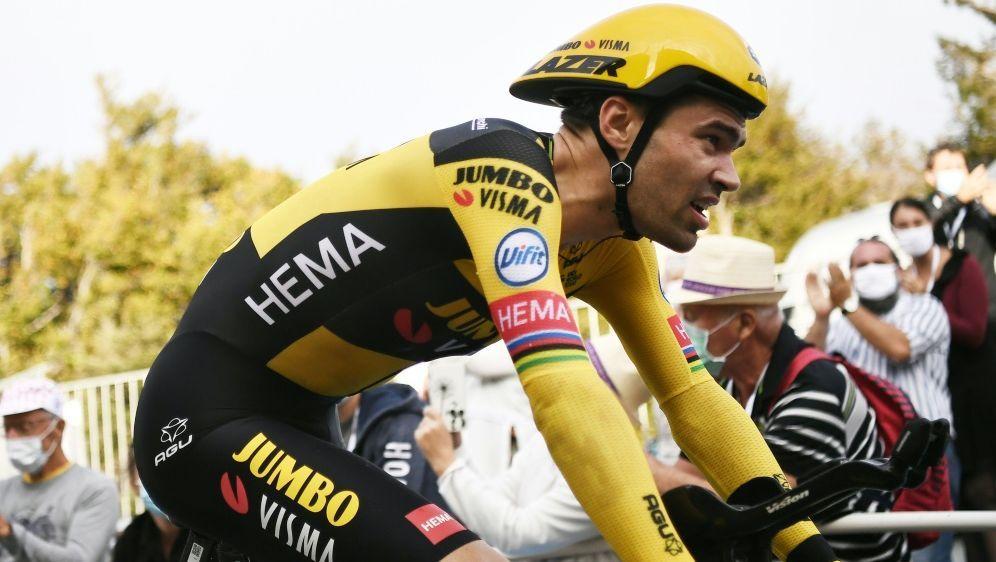 Dumoulin stieg am Mittwoch vor der achten Etappe aus - Bildquelle: Marco Bertorello  POOL  AFP Marco Bertorello  POOL  AFPMARCO BERTORELLO