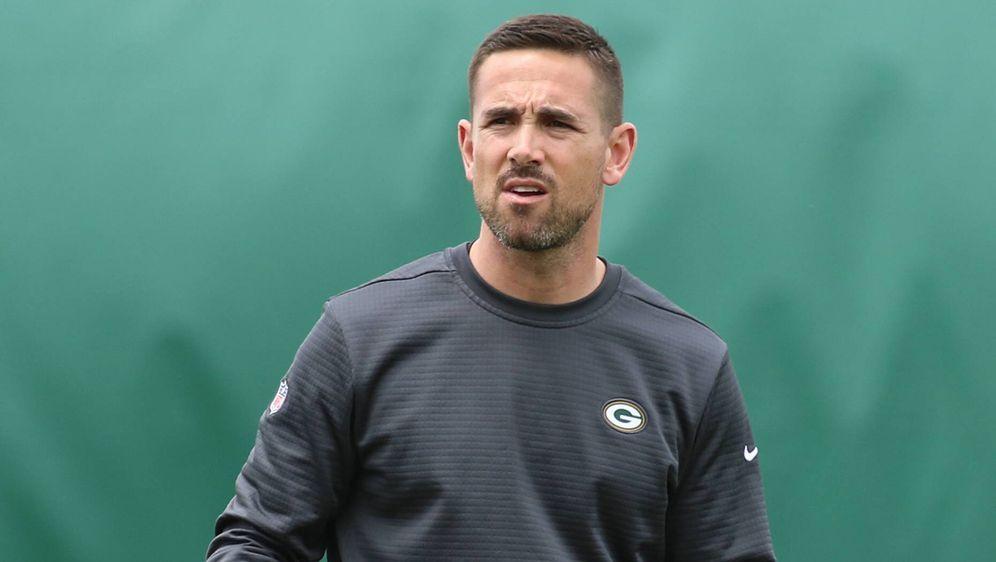 Autsch! Der neue Packers-Coach Matt LaFleur hat sich die Achillessehne geris... - Bildquelle: imago