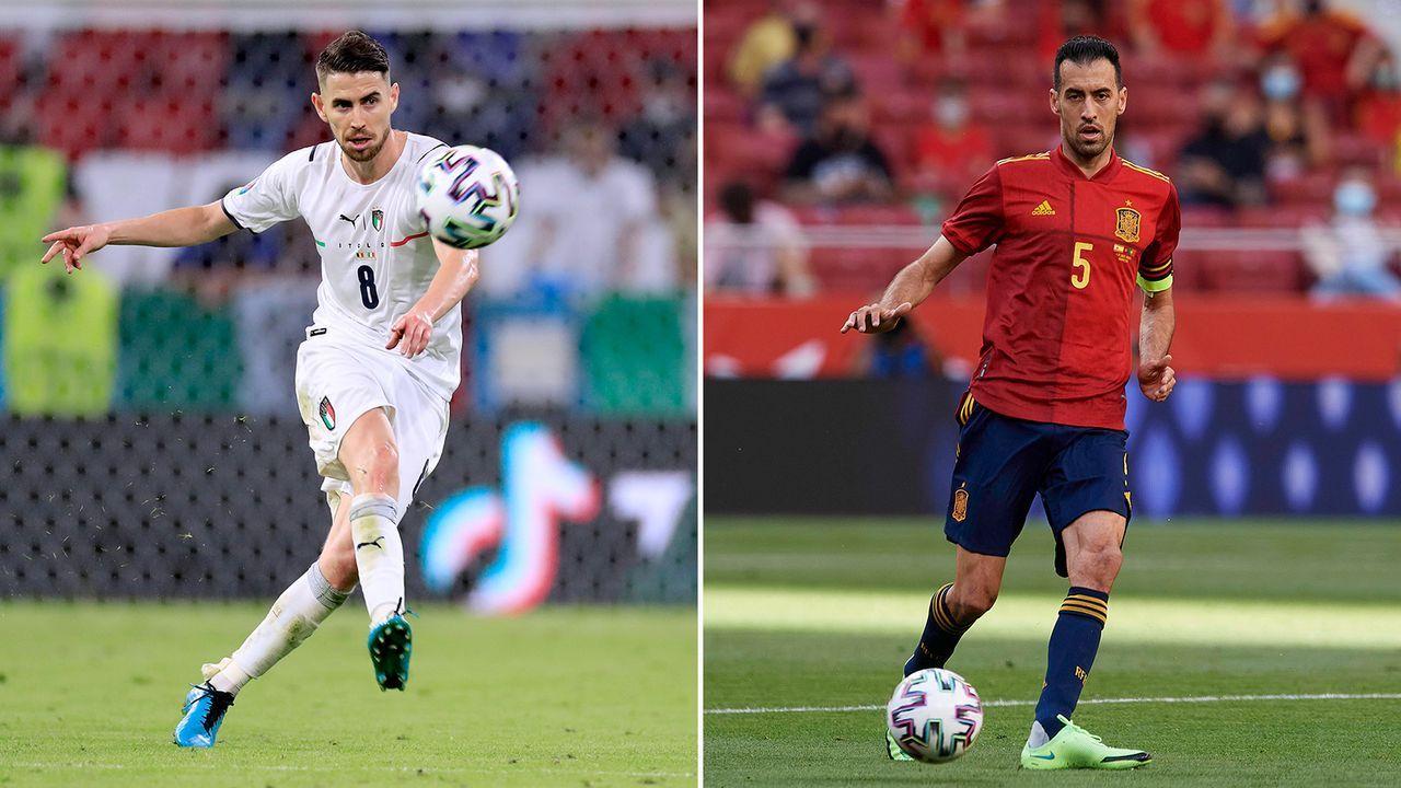 Defensives Mittelfeld: Jorginho vs. Sergio Busquets - Bildquelle: Imago Images