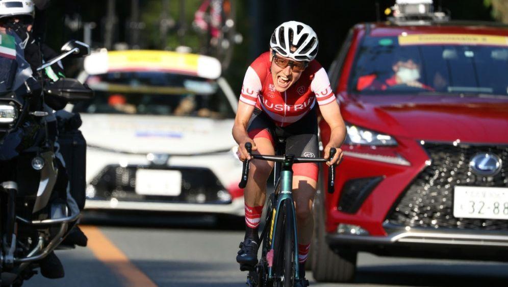 Anna Kiesenhofer gewinnt das Straßenrennen - Bildquelle: AFPSIDMICHAEL STEELE