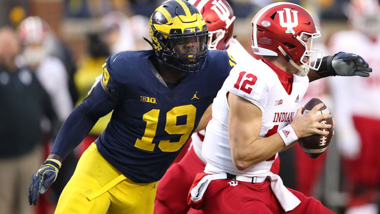 Pick 18: Kwity Paye (Defensive Liner, Michigan) - Bildquelle: 2018 Getty Images