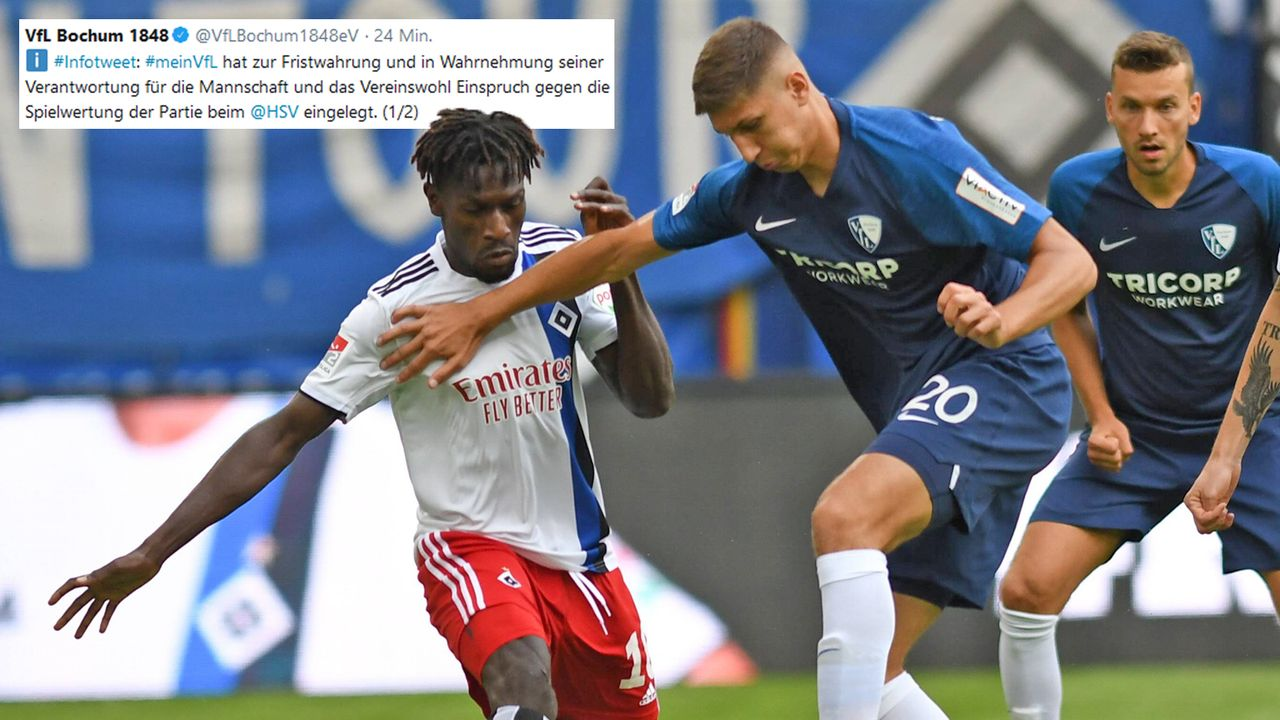 Bochum legt Einspruch gegen HSV-Spiel ein - Bildquelle: imago images