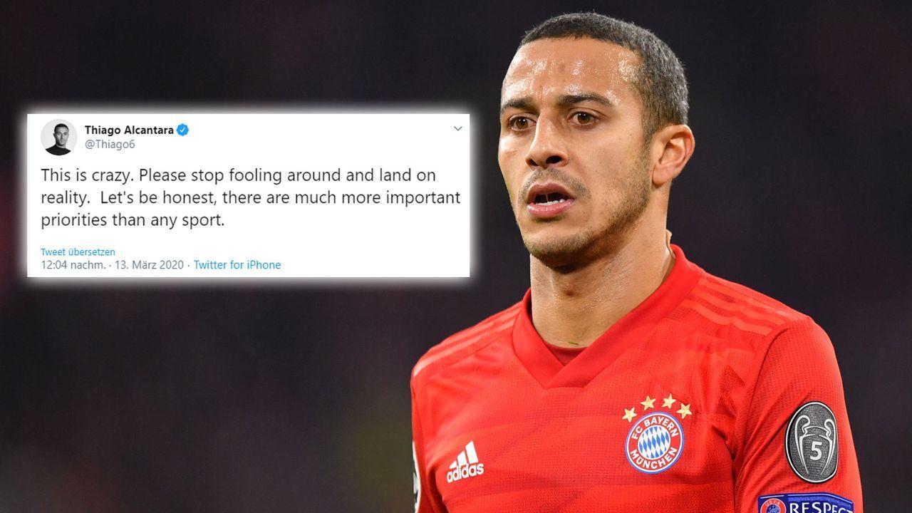 Thiago schießt gegen die DFL - Bildquelle: getty/twitter.com/Thiago6