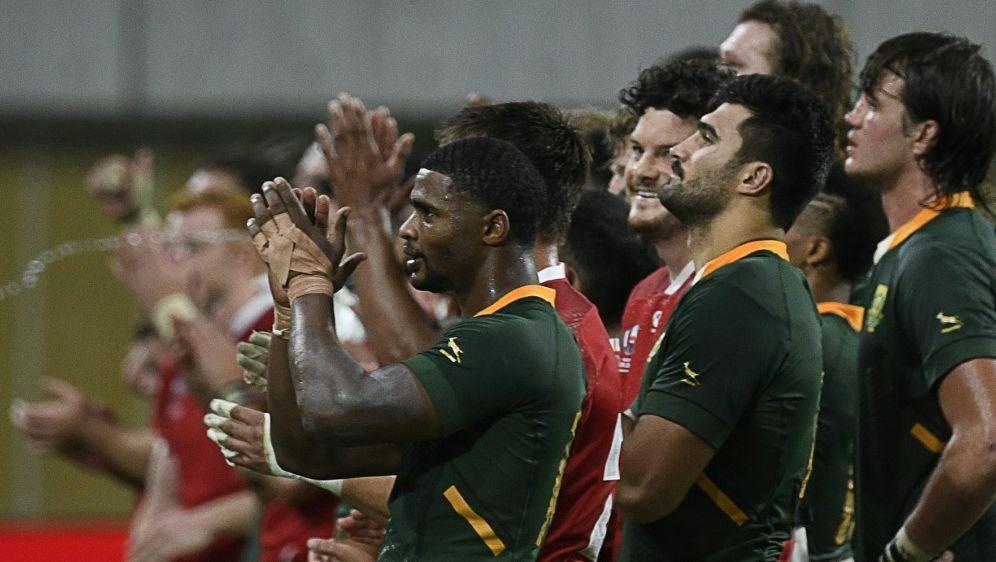 Südafrika nach Kantersieg im Viertelfinale der Rugby-WM - Bildquelle: AFPSIDFILIPPO MONTEFORTE