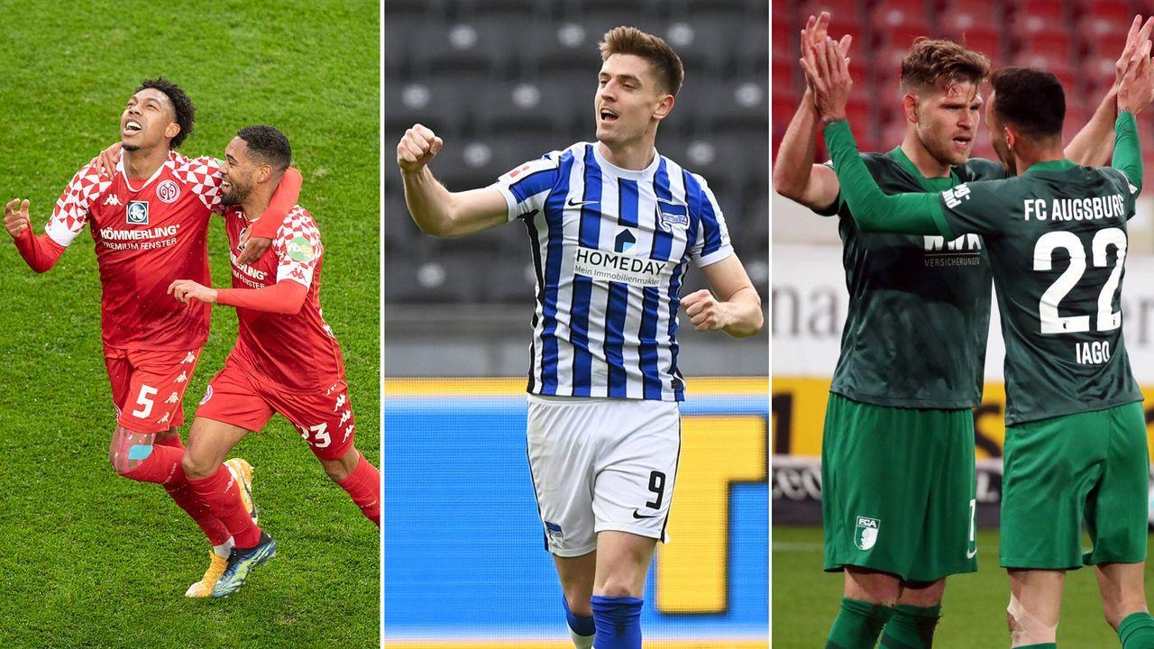 Abstiegskampf pur: Mainz, Hertha und Augsburg haben es in der eigenen Hand - Bildquelle: Imago Images