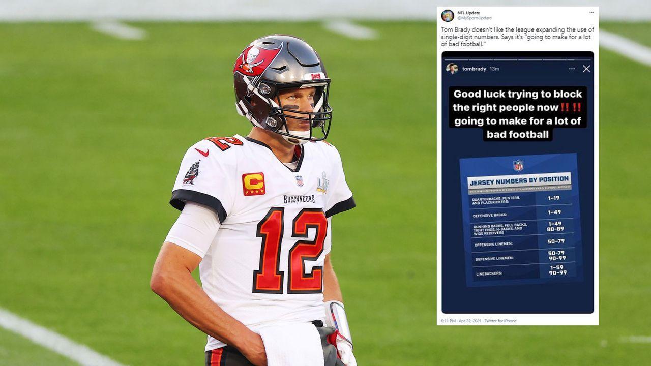 Brady verärgert über Änderung der Rückennummer-Regel - Bildquelle: Getty Images/twitter @NFLUpdate
