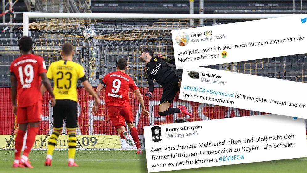 BVB-Torwart Roman Bürki sah bei Kimmichs Geniestreich nicht gut aus. - Bildquelle: 2020 image / Twitter