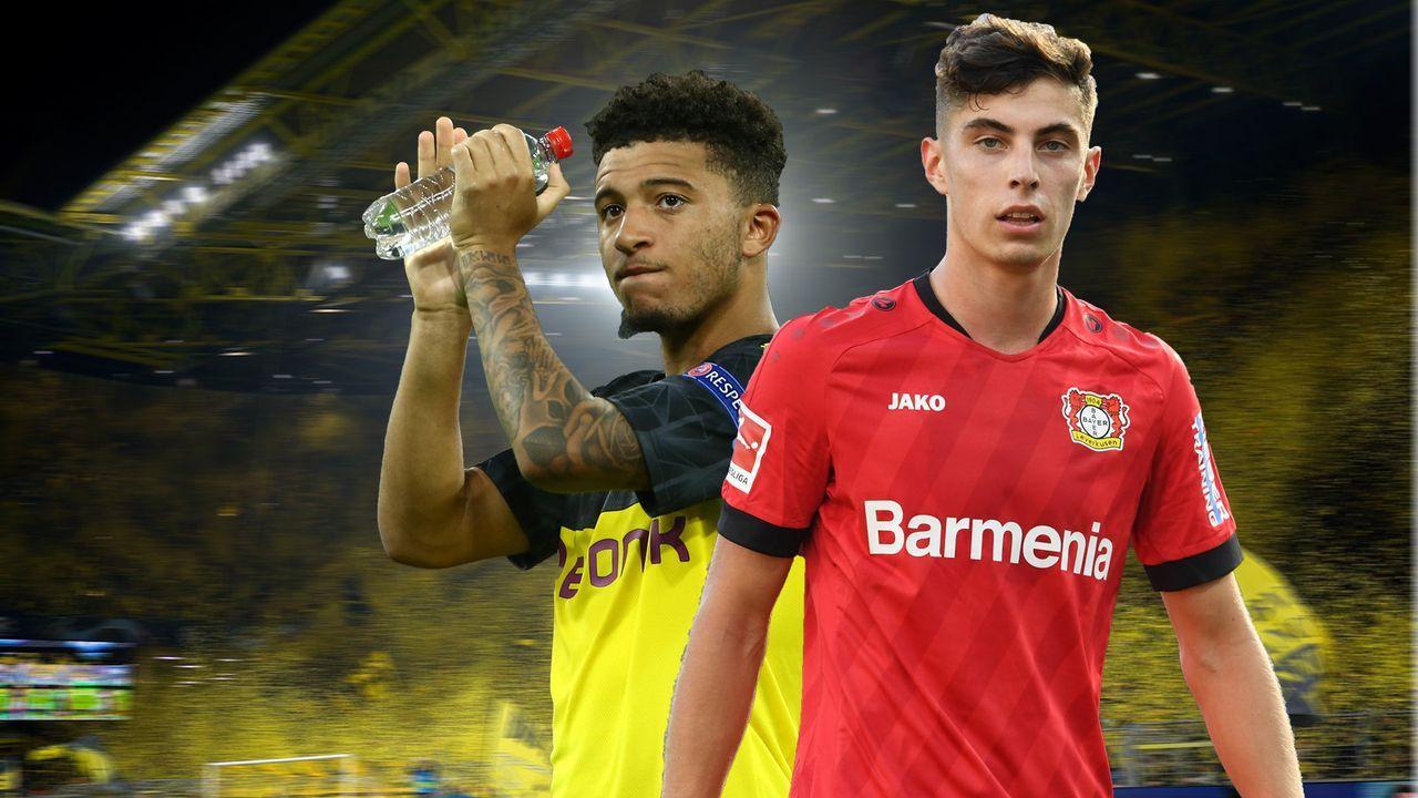 Kai Havertz (Bayer Leverkusen) und Jadon Sancho (Borussia Dortmund)  - Bildquelle: imago