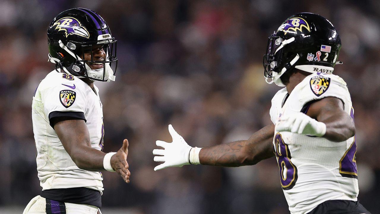 Platz 4: Baltimore Ravens - Bildquelle: 2021 Getty Images