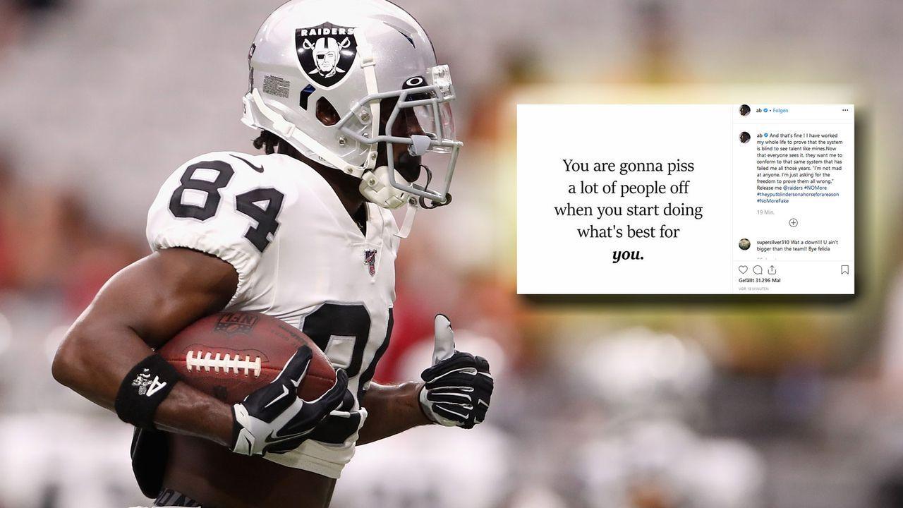 Antonio Brown fordert seinen Entlassung von den Raiders - Bildquelle: 2019 Getty Images