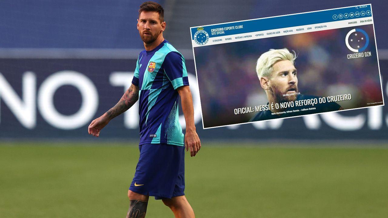 Homepage gehackt! Cruzeiro stellt Neuzugang Lionel Messi vor - Bildquelle: Getty Images/twitter@globoesportecom