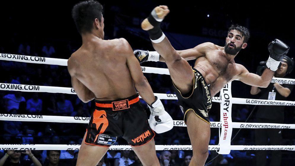 Marat Grigorian (re.) steht vor der zweiten Titelverteidigung - Bildquelle: Glory Kickboxing