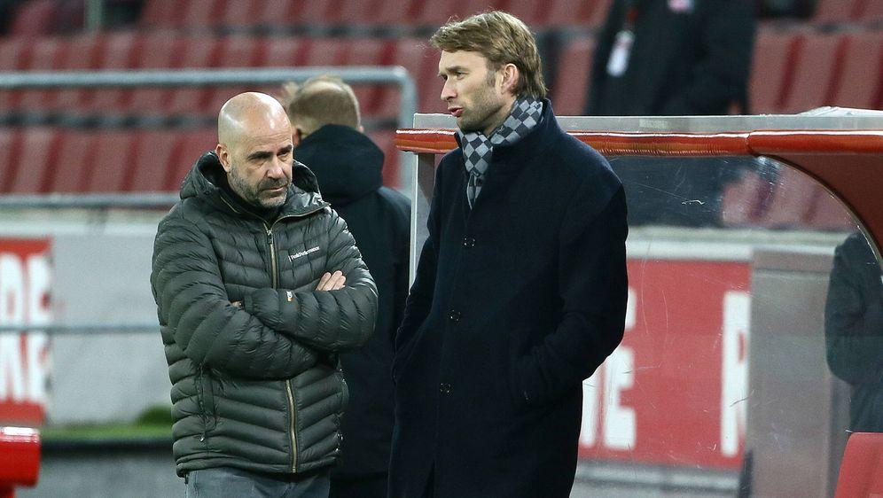 Bayer Leverkusen trennte sich von Trainer Peter Bosz (li.) - Bildquelle: 2021 imago