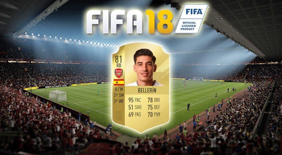 Platz 3: Hector Bellerin (FC Arsenal) - Bildquelle: EA Sports