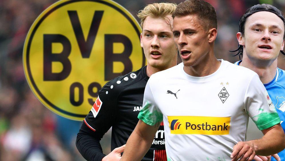 Julian Brandt steht vor einem Wechsel zum BVB, Thorgan Hazard und Nico Schul... - Bildquelle: 2019 Getty Images