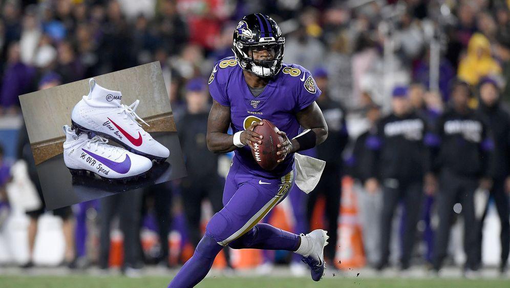 Lamar Jackson schnellster Madden-Quarterback aller Zeiten. - Bildquelle: getty/twitter