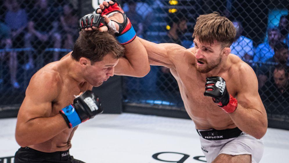 Jonas Billstein ist neuer Mittelgewichtschampion von MMA Live - Bildquelle: FotoSevenSport