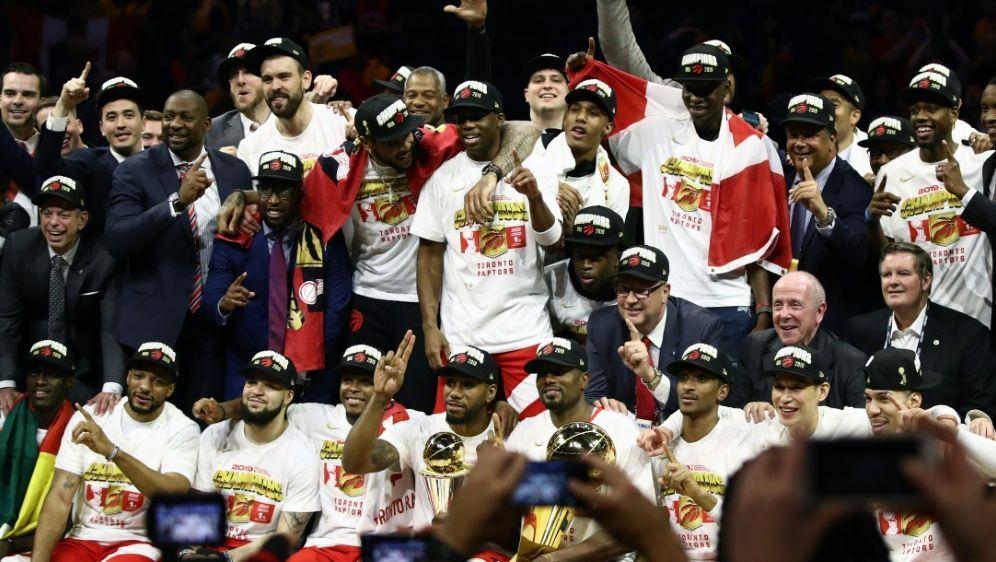 Die Raptors gewannen ihren ersten Titel - Bildquelle: GETTY AFPSIDEZRA SHAW
