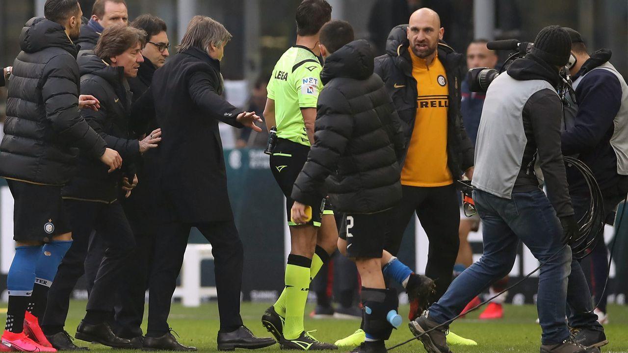 Inter-Ersatzkeeper Tommaso Berni: Null Einsätze, zwei Rote Karten - Bildquelle: imago images/Sportimage