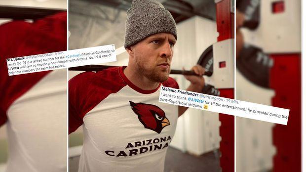 JJ Watt zu den Arizona Cardinals: Die Netzreaktionen zum NFL-Hammer - RAN