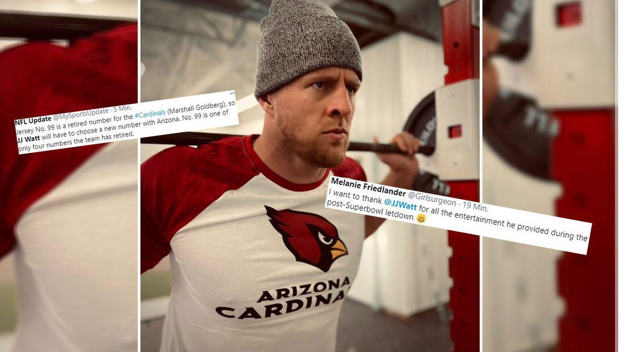 JJ Watt unterschreibt bei den Arizona Cardinals - die Netzreaktionen - Bildquelle: twitter.com/jjwatt