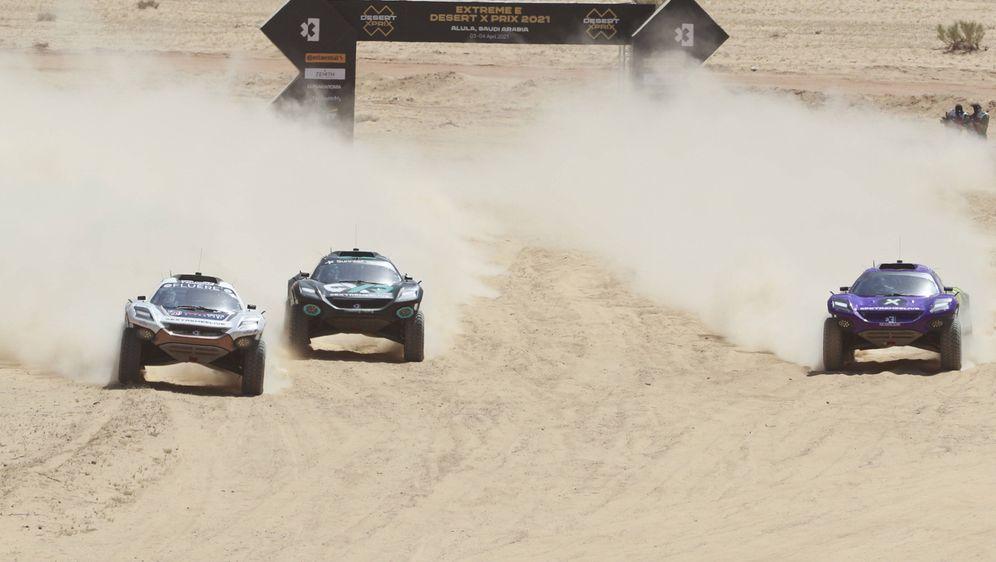 Team Rosberg (Mi.) gewann den Auftakt der Extreme E in al-'Ula. - Bildquelle: imago