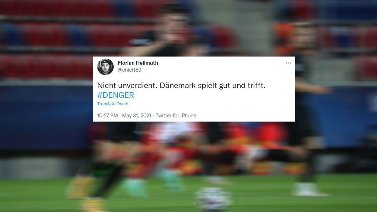 Faghir trifft für Dänemark - Bildquelle: Imago Images/twitter.com @chieff89