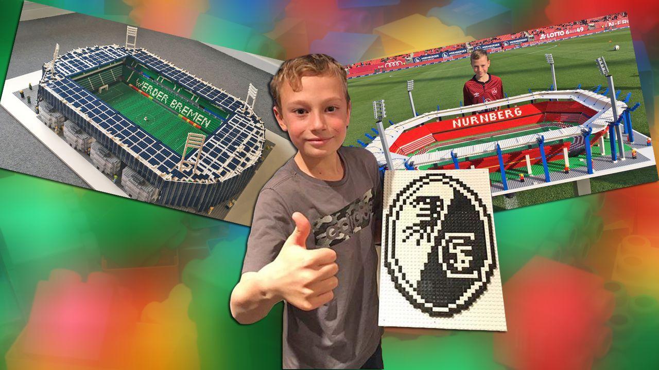 Zwölfjähriger Engländer baut Bundesliga-Stadien aus Lego - Bildquelle: imago/Frank Sorge /Twitter @awaydayjoe
