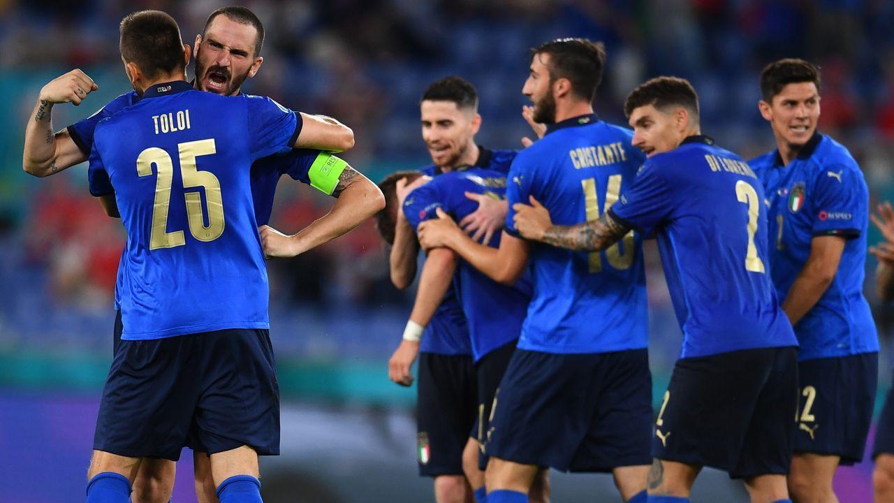 Gruppe A: Italien (Gruppenerster, 9 Punkte/7:0 Tore) - Bildquelle: 2021 Getty Images