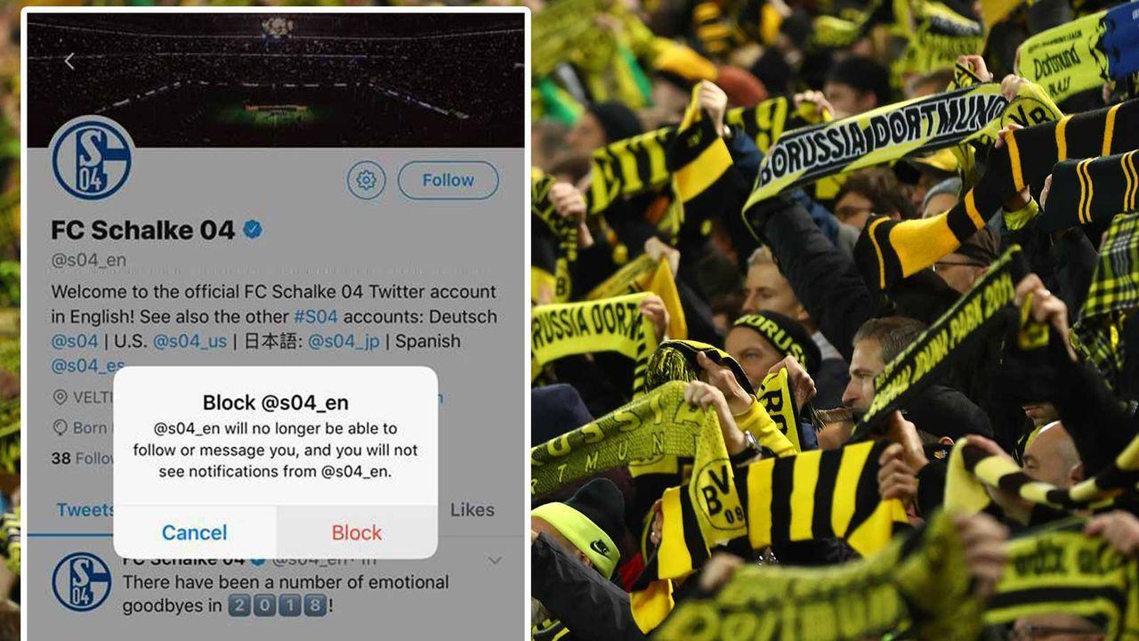 BVB-Diss gegen Schalke 04 - Bildquelle: getty, Twitter