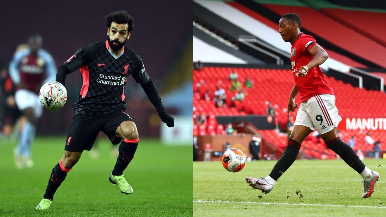 Linksaußen: Mohamed Salah versus Anthony Martial  - Bildquelle: Getty Images