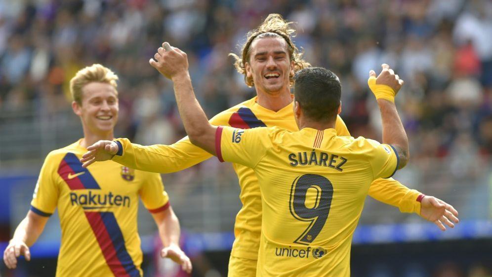 Griezmann und Suarez trafen zum Sieg gegen Eibar - Bildquelle: AFPSIDANDER GILLENEA