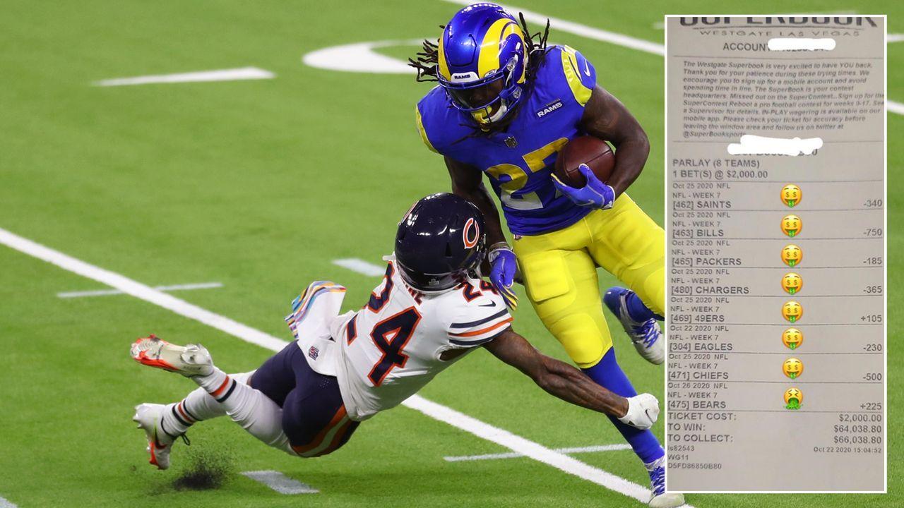 Bears-Pleite vermasselt Zocker 66.000-Dollar-Gewinn - Bildquelle: Getty Images/twitter@br_betting