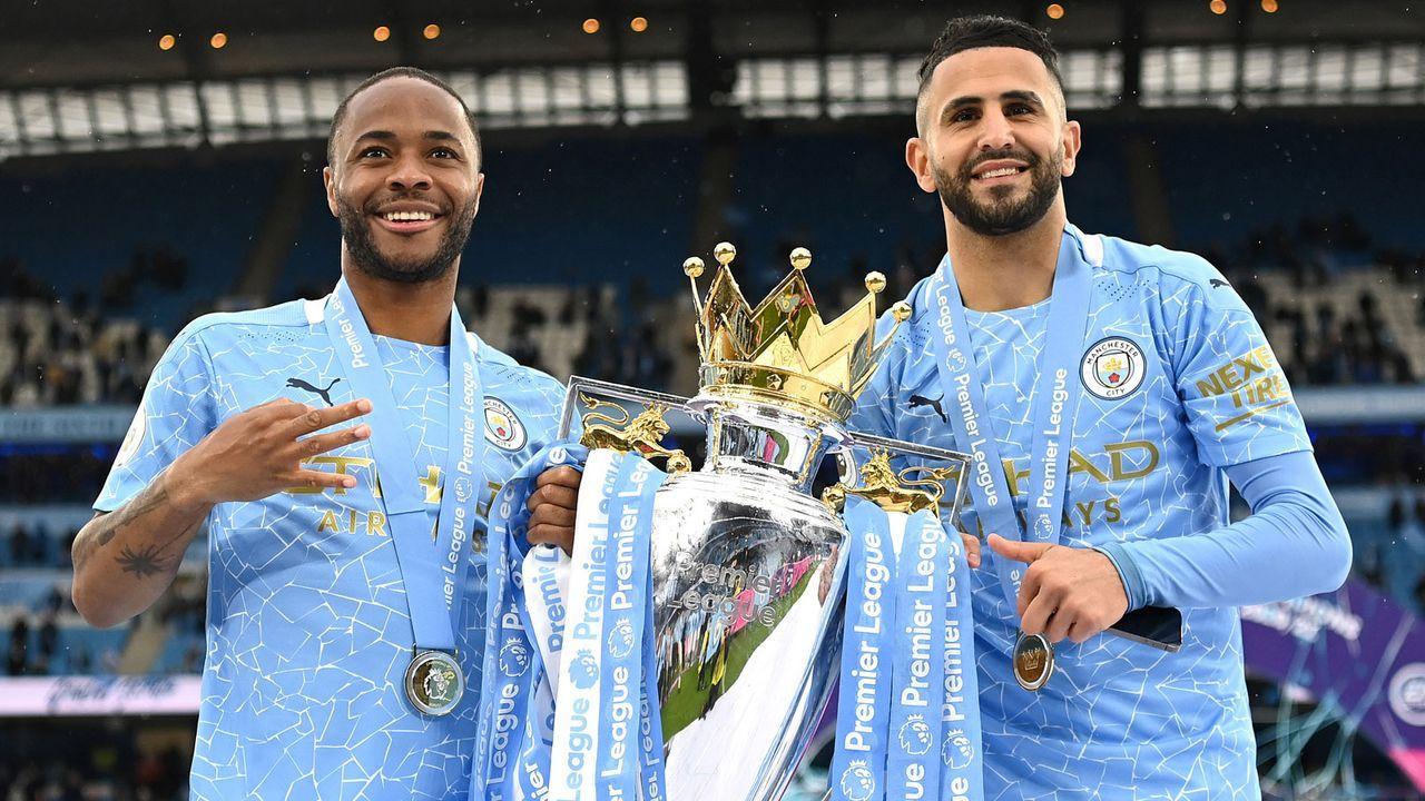 Raheem Sterling & Riyad Mahrez (Manchester City) - Bildquelle: 2021 Getty Images