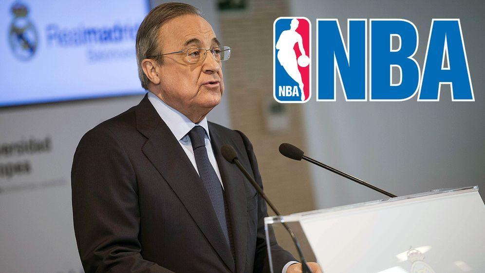 Real-Präsident Florentino Perez möchte Madrids Basketballer bald in der NBA ... - Bildquelle: imago/Alterphotos